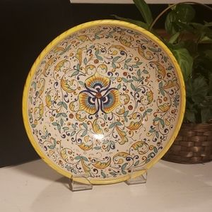 Vintage hand made/painted bowl in Italy